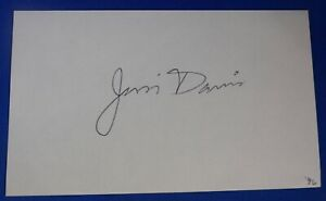 JIM DAVIS deceased 2019 signed autograph 3x5 Hawks  Pistons Rockets1967-75