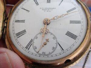 New York Standard Watch Co. Pocket Watch~ 18S