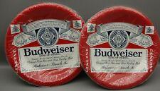 """16 Vintage Unused Budweiser Paper Plates Hallmark New Old Stock 101/2"""""""
