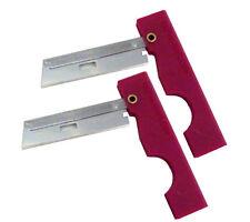 Derma Safe Folding Utility Razor Knife 2 pack Red Emergency Survival Tool Kit