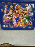 Nintendo Wii Mario Party Blue Lunch Box (Metal) (Tin) Lunchbox