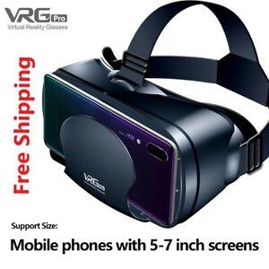 Virtual Reality 3D VR Headset Smart Glasses Helmet for Smartphones 7 Inches Lens