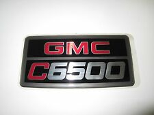 "NEW OEM GMC TOPKICK C6500 EMBLEM BADGE DECAL 7"" x 3-1/2"""