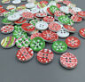 20/50/100pcs Mixed Christmas Wooden Buttons Fit Sewing Scrapbook 4 Holes 18mm