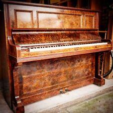 C. Bechstein Burr Walnut Antique German Upright Piano
