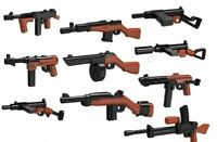 POGO CUSTOM WORLD WAR 2 MACHINE GUNS PACK DESIGNED FOR LEGO MINIFIGS NEW
