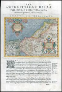 1597/8 Map PALAESTINA VEL TERRA SANCTA Palestine Holyland Israel Magini (G55)