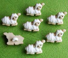 TINY SHEEP Baby Lamb Farm Shepherd Nativity Christmas Dress It Up Craft Buttons