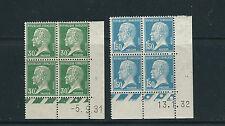 FRANCE 1922-26 LOUIS PASTEUR (Sc 189 196) plate blks/4 VF MH