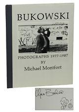 CHARLES BUKOWSKI Photographs 1977 Michael Montfort ~ SIGNED First Edition 1987