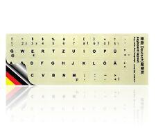 LEDELI Tastaturaufkleber nachtleuchtend fluoreszierend QWERTZ Deutsch German