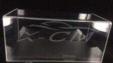 Car Model Transparent Display Show Case Carbon Fiber Like Base 1:18 (Black)