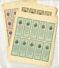 Salvador 1904 Revenue Stamp Hoard of Various Sheets