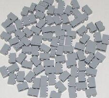 Lego Lot of 100 New Light Bluish Gray Bricks 1 x 2 Dot Building Blocks Parts