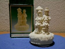 World Bazaars Carolers Musical Music Box Plays We Wish You A Merry Christmas