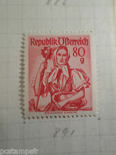 AUTRICHE AUSTRIA, 1958, timbre 891, COSTUME, neuf*, OSTERREICH VF MH STAMP