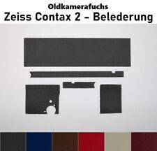 Contax 2 ( Zeiss ) - Kameraleder / Belederung - Zuschnitt - Farbauswahl