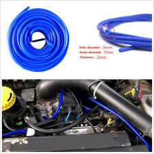 5M/16.4ft Autos Vehicle Engine 3mm Blue Soft Silicone Fuel/Air Vacuum Tube Hose