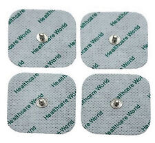 4 SQUARE STUD TENS ELECTRODE PADS 5cm x 5cm REUSABLE CE Marked