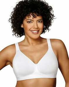 Playtex Wirefree Bra 18Hour 474C Cotton Stretch Ultimate Lift Support Adjustable