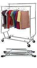 3 Clothing Racks Double Rail Bar Commercial Folding Garment Rolling Ez Fold