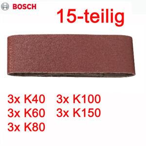 Schleifband Schleifbänder 15 St. passend für Bandschleifer BOSCH PBS GBS 75 A AE