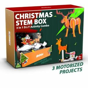 Robotics Electronics Gift, STEM Activity Box 3 in 1 DIY Educational Toy Over 7Yr