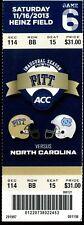 College Football Ticket Pittsburgh 2013 - 11/16 - North Carolina Full