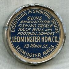 Ca. 1900 Pocket Compass for Leominster (Mass.) Hardware Co. Sporting Goods Store