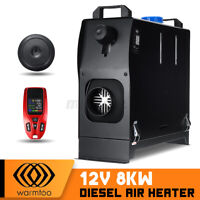 Metall WARMTOO All In One 12V 8KW Diesel Air Heater Red Remote For Car Trucks
