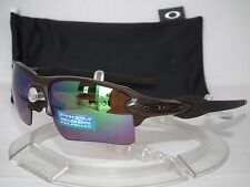 OAKLEY POLARIZED FLAK JACKET 2.0 XL OO9188-59 Matte Rootbeer/Prizm Shallow Water