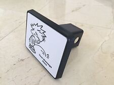 """Trailer Tow Hitch Cover Black for 2"""" Receiver Track Car SUV 5""""X4"""" Calvin Funny"""