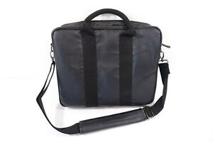 M 151 7TH AVE BLACK FAUX LEATHER BRIEFCASE LAPTOP WORK BAG NWT NEW