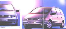 VW Volkswagen Sharan CL GL Carat 1996-97 Original UK Brochure No. 520/1190.16.25