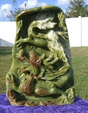 JADE DRAGON Hand Carved Gorgeous Display with Incredible Detail