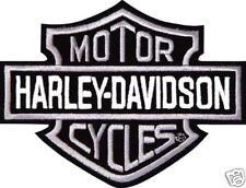 HARLEY DAVIDSON SILVER BAR SHIELD 4 INCH PATCH