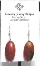 Dangle Earrings #5707.Handmade Usa Sterling Silver Large Natural Carnelian