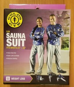 "New GOLDS GYM Sauna Weight Loss Suit Size Small-Medium for Waist 24"" 32"" SEALED"