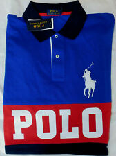New Men's Polo Ralph Lauren Big Pony Colorblock Mesh Polo Shirt Size 3XLT Tall
