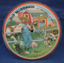 OLD MacDONALD Record Guild Picture Disc Record 4001P Childrens