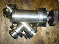 "Thermionics inline vacuum valve, 2 3/4"" conflat, 3 port"