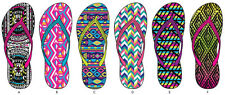 Women's assorted tribal inspired basic flip flops, lot of 72