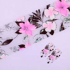 1 Roll Starry Sky Nail Art Foil Manicure Decal Decor Pink Floral Design Tips