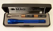 Mini Maglite 2 Cell aaa LED Flashlight Blue P32112 Presentation Box GIFT USA