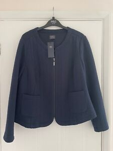 Marks and Spencer Navy Zip Jacket - size 20