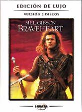 BRAVEHEART de Mel Gibson. Ed. Lujo (2 dvd) Tarifa plana en envío dvd España, 5 €