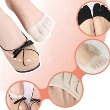 1Pair Women Forefoot Cover Pad Toe Sock Half Invisible Pads Five Finger Socks