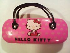 Cute Hello Kitty Hard Shell Eye Glasses Eyeglass Case Frame Protector W/Handles