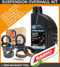 Horquilla Suspensión Kit Sellos arbustos Aceite sealbuddy Honda Crf450 R 02-08