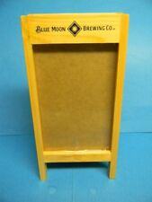 RARE BLUE MOON BELGIAN WHITE BEER MENU TABLE TENT PICTURE FRAME COORS GOLDEN CO.